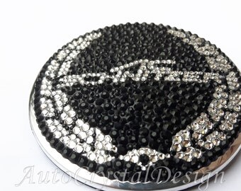 PROMO!!! AC Schnitzer BMW Boot & Bonnet Badges Covered With High Quality Crystals Swarovski