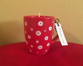 Polka Dot Soy Wax Candle