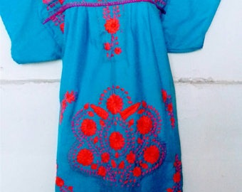 S-M Mexican Dress Embroidered