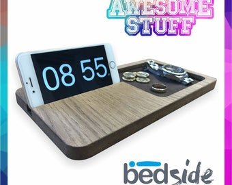 Add a PERSONALISED laser engraved message FREE of charge - Bedside Buddy Bedside Organiser