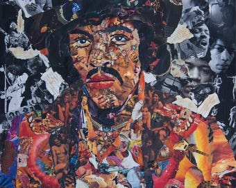 Jimi Hendrix Collage Poster
