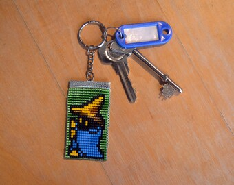 Black Mage - Final Fantasy - Bead Keyring - Keychain