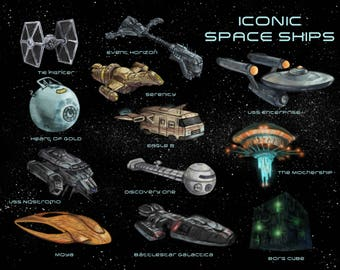 Iconic Spaceship Poster