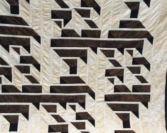 Labyrinth quilt | Etsy : labrynth quilt - Adamdwight.com