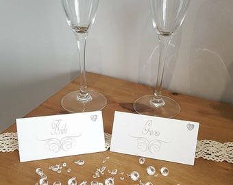Hand made Laser Engraved Place Cards weddings/ Birthdays/ christenings