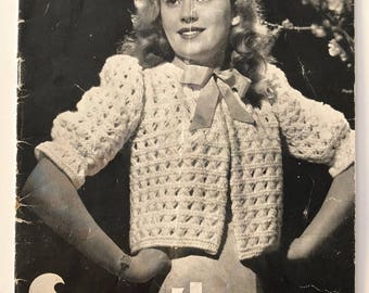 1940's Sun-glo Knitting Pattern Book Series 71 - Lovely Patterns For Ladies - Bed Jackets, Dressing Gown & Underwear - Free Aust Post