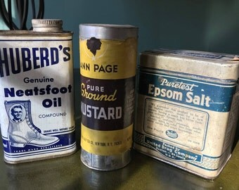 Three Wonderful Vintage Tins from the 1920s, 1930s and 1950s