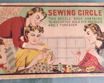 vintage needle book