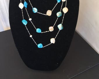 Fresh Water Pearl and Shell Necklace by Dobka