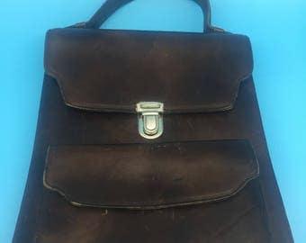 Vintage leather bag, Brown
