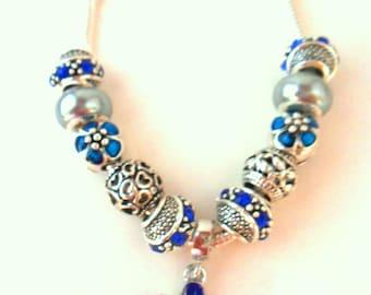 Blue Poppy Charm Bracelet