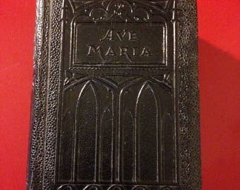 "Antique 1954 Ave Maria Pocket Bible Prayers & Devotions for Catholics with Epistles and Gospels Bible edited by Rev. J. Lelen, Ph.D. 4.75""H"