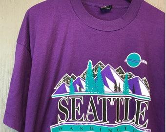 XXL * vintage 90s Seattle Washington tourist t shirt