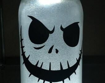 Glitter, illuminated - Skeleton - Mason jar