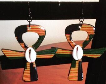 Beautiful Kente Fabric Earrings