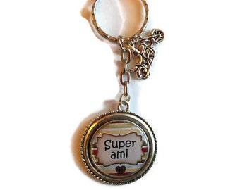 """Door keys/friend / """"Super friend"""" / Wonderland faby/Valentines Day gift idea / birthday / party / thanks"""