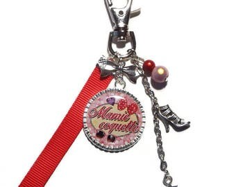 "Keychain / bag gift Grandma ""Flirtatious Grandma"" charm/personalized/grandmother/mother of grandmas party"