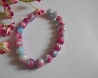 x 20 beads 3 colors pink blue white