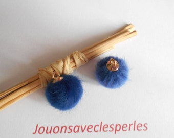 2 Navy Blue Pompom 18 mm