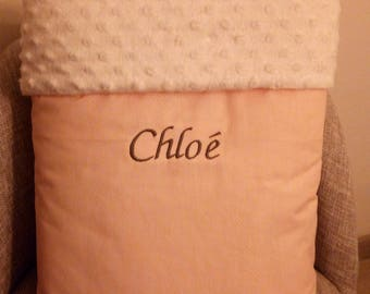 name embroidered baby blanket