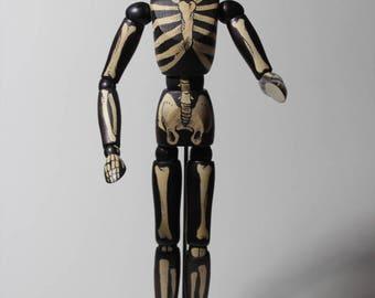 Wood mannequin skeleton
