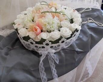 centre de table rond pour mariage cérémonies romantique et chic