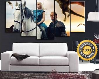 Game of Thrones, Daenerys canvas, Mother of dragons, Game Of Thrones Art, Seven Kingdoms Art, Old Westeros, Daenerys Targaryen, Westeros Art