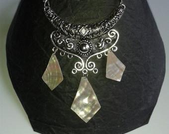 Norman Pearl bib necklace
