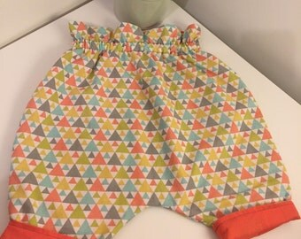 Reversible baby pants - 3 months