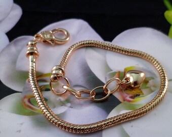 1 bracelet 18.5 cm clasp gold