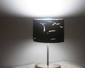 Table lamp with lamp shade from coffee grounds