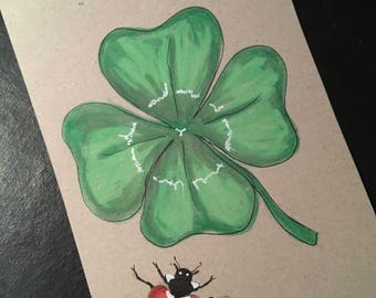 Clover postcard card