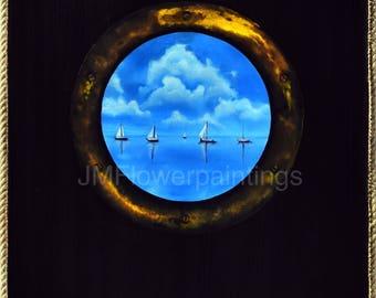 Ocean Sailboat Porthole
