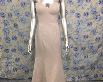 Trumpet Wedding Dress Champagne Sz 8