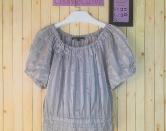 Vintage Marc Jacobs Dress Shirt Women Shirt Gray Colour Size 4 Comme Des Garcons