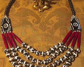 Chic ethnic multi strand necklace