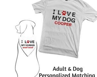 Adult & Dog Matching T-Shirt and Bandana