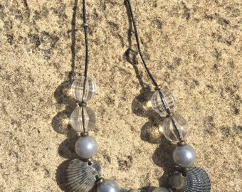 Black and Gray Shell Necklace