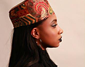 Ethnic paisley print  kufi hat