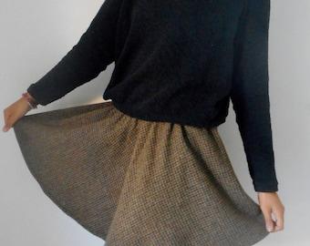 Mini Wool tweed skirt