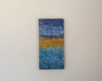 Encaustic abstract seascape
