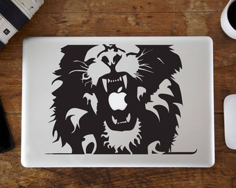 "Lion Roar Vinyl Decal Sticker for Apple MacBook Air/Pro Laptop 13"""