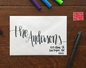 Handwritten Envelope Calligraphy