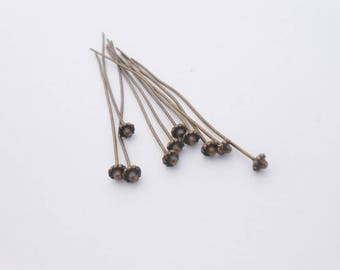 Set of 5 studs posts to head long 52mm x 0.7 mm Bronze color. (9071672)