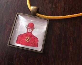 The Flash/Barry Allen original fan art pendant necklace!
