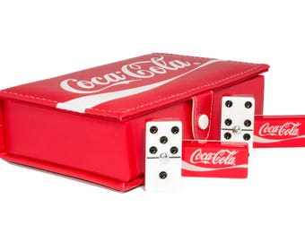 Coca-Cola Domino 100% Acrylic, Faux Leather Case