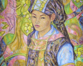 The look of Nhan - original painting inspired by the North of the Viet Nam