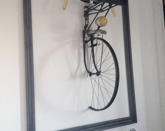 Front of bicycle wall hanging