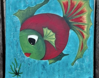 Contemporary painting of a sail fish