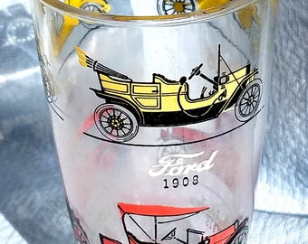 Antique Beer Glass, AUTOS  From 1920's-1930's,  Holds approx 26 Ounces.